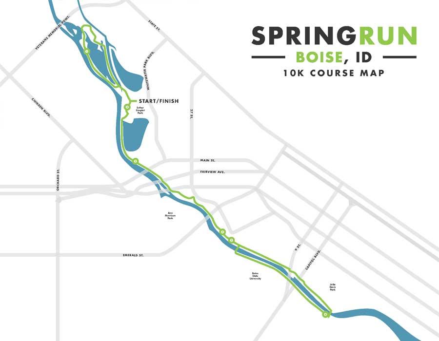 Spring Run 10k Race Map